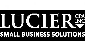 Lucier CPA, Inc. White Logo